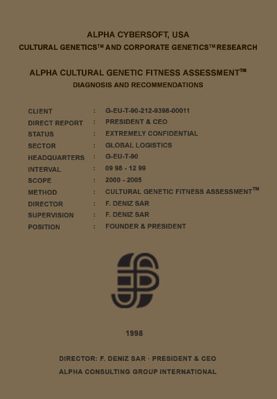 Deniz Sar - Deniz Şar - Cultural Genetic Fitness Assessment (TM)